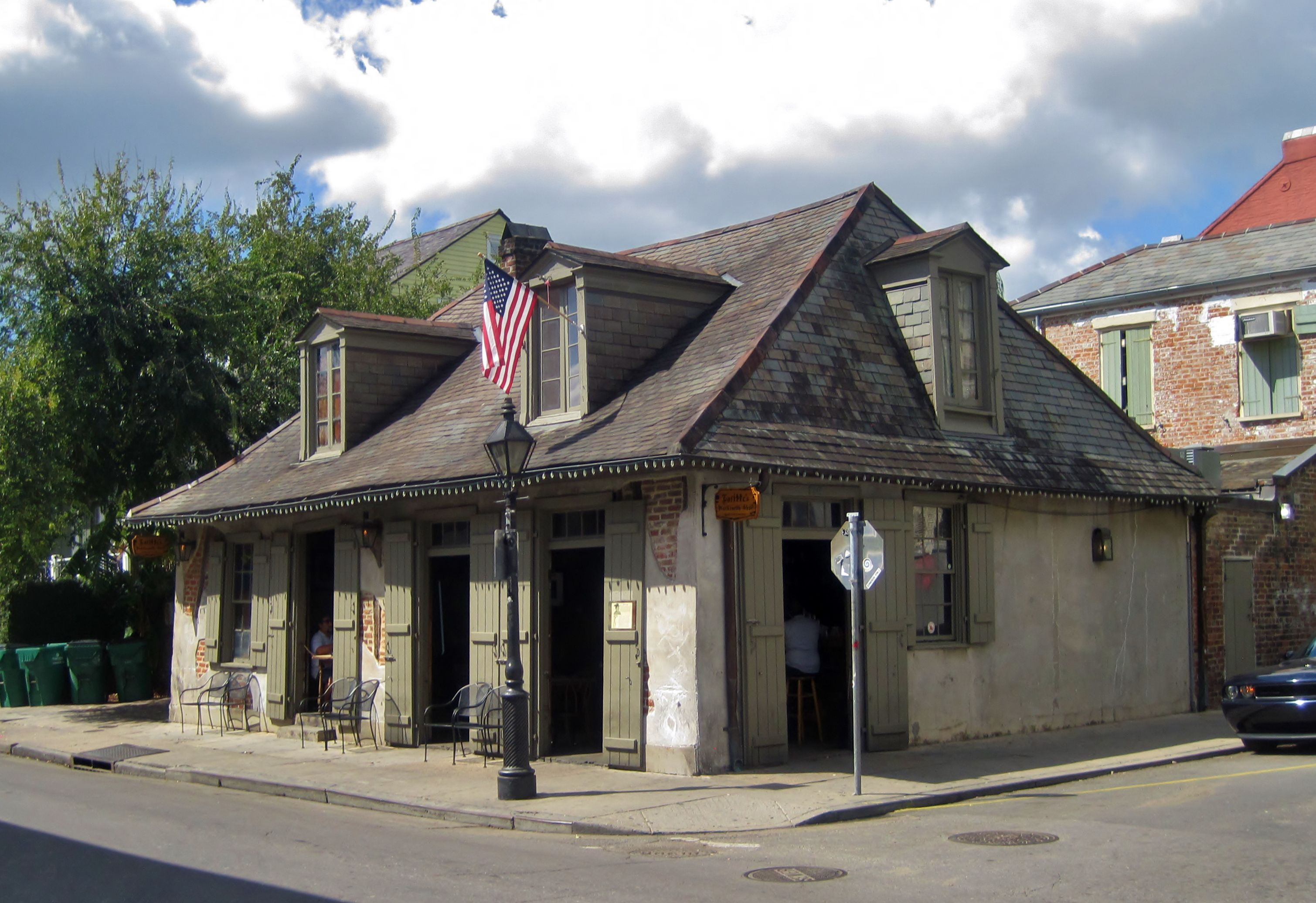 Exterior view of Lafitte's Blacksmith Shop in New Orleans, a national landmark (1761).