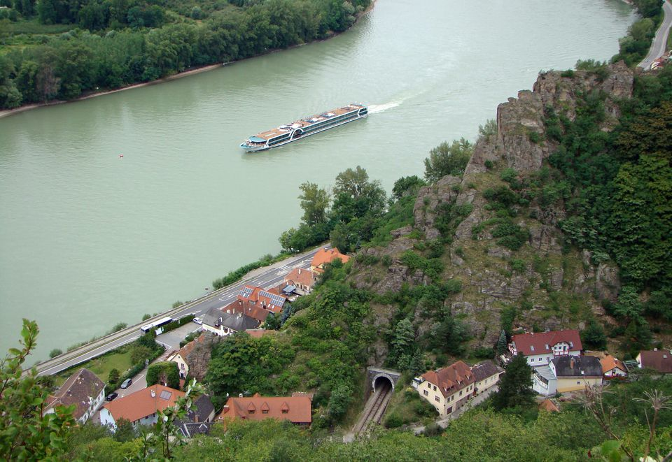 Danube River cruises take visitors through the scenic Wachau Valley in Austria.