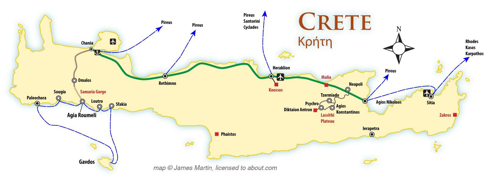Crete Maps And Travel Guide