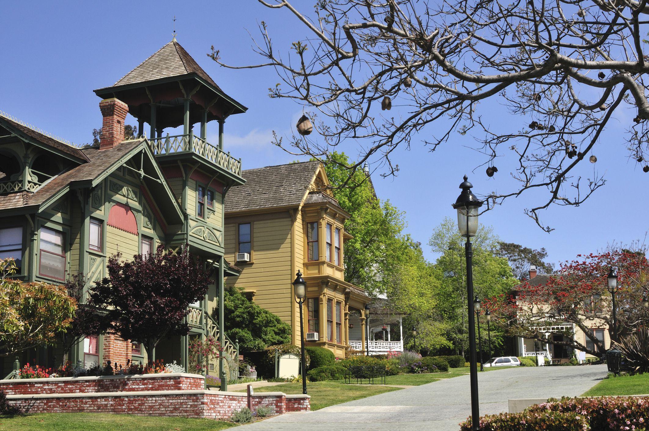 Casas victorianas en el parque Heritage del casco antiguo