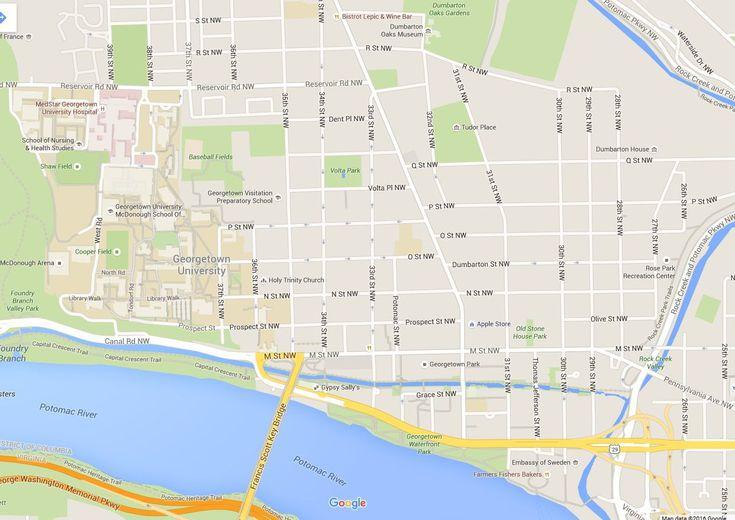 georgetown campus map pdf Washington D C Map Of Georgetown georgetown campus map pdf