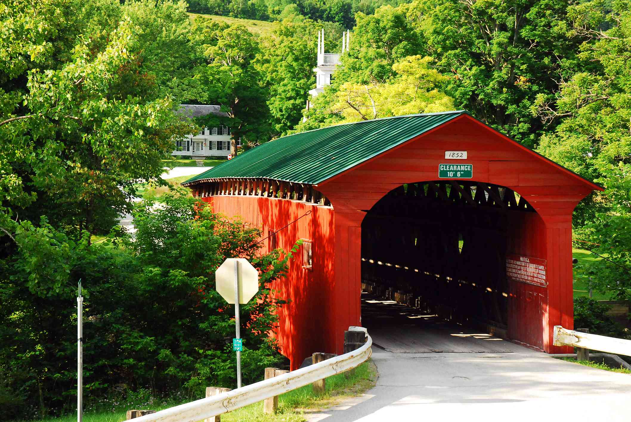 West Arlington Covered Bridge in Vermont