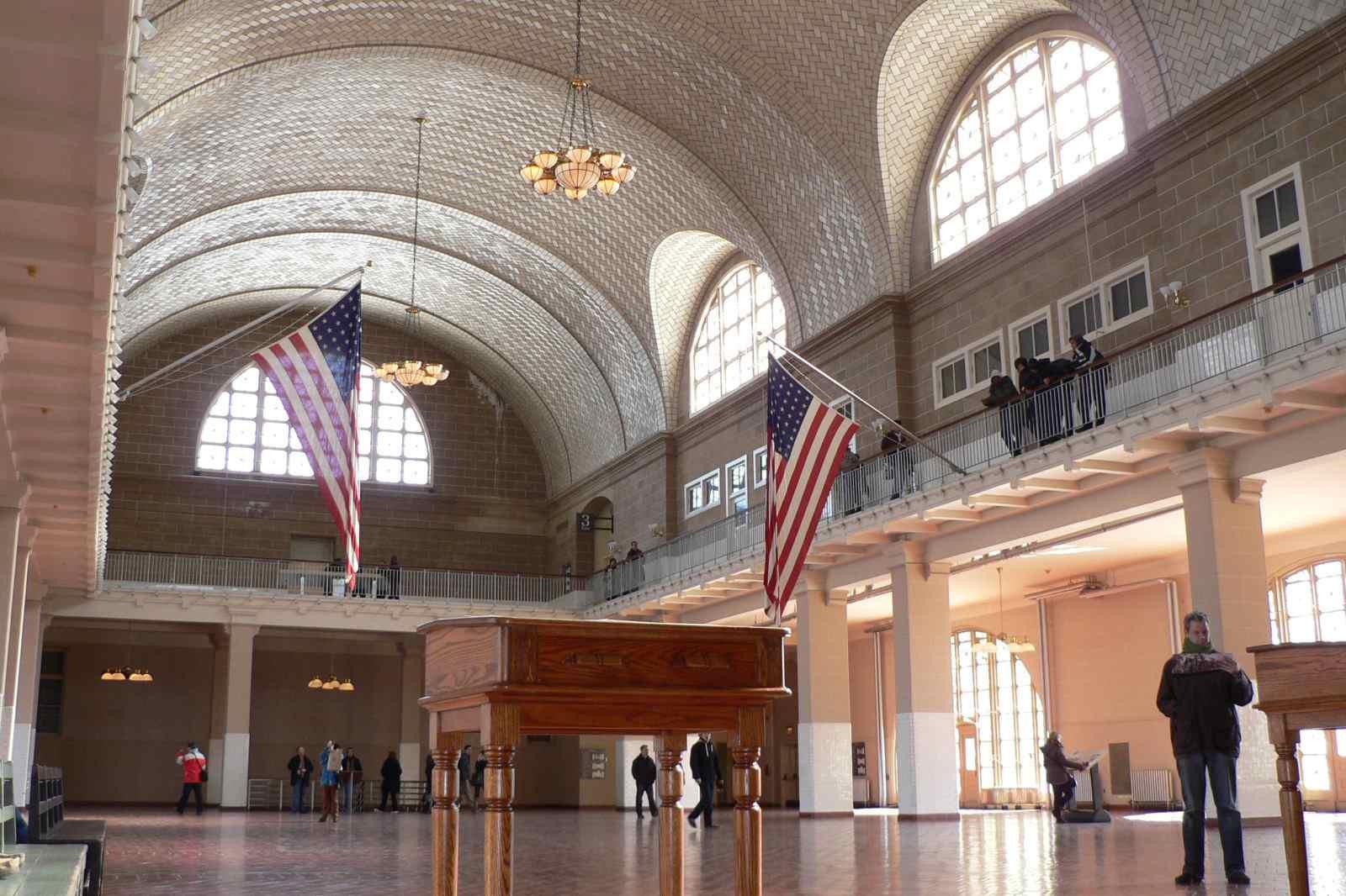 Gran Salón del Museo de Inmigración de Ellis Island