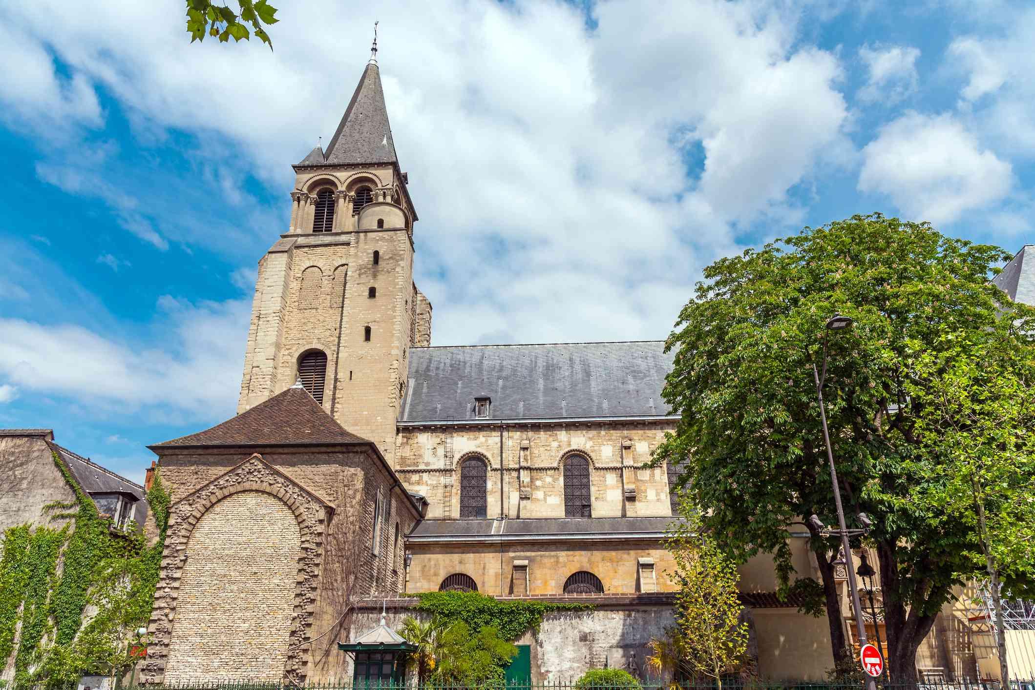The Saint-Germain-des-Prés Abbey in Paris, France