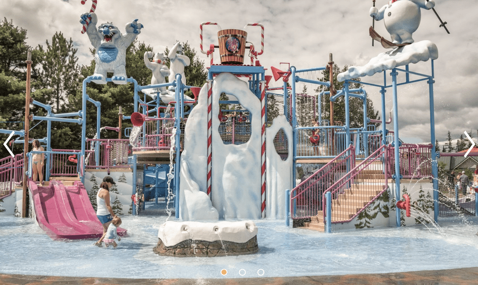 Water park at Santa's Village in New Hampshire
