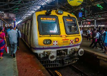 Train at Mumbai railway station.