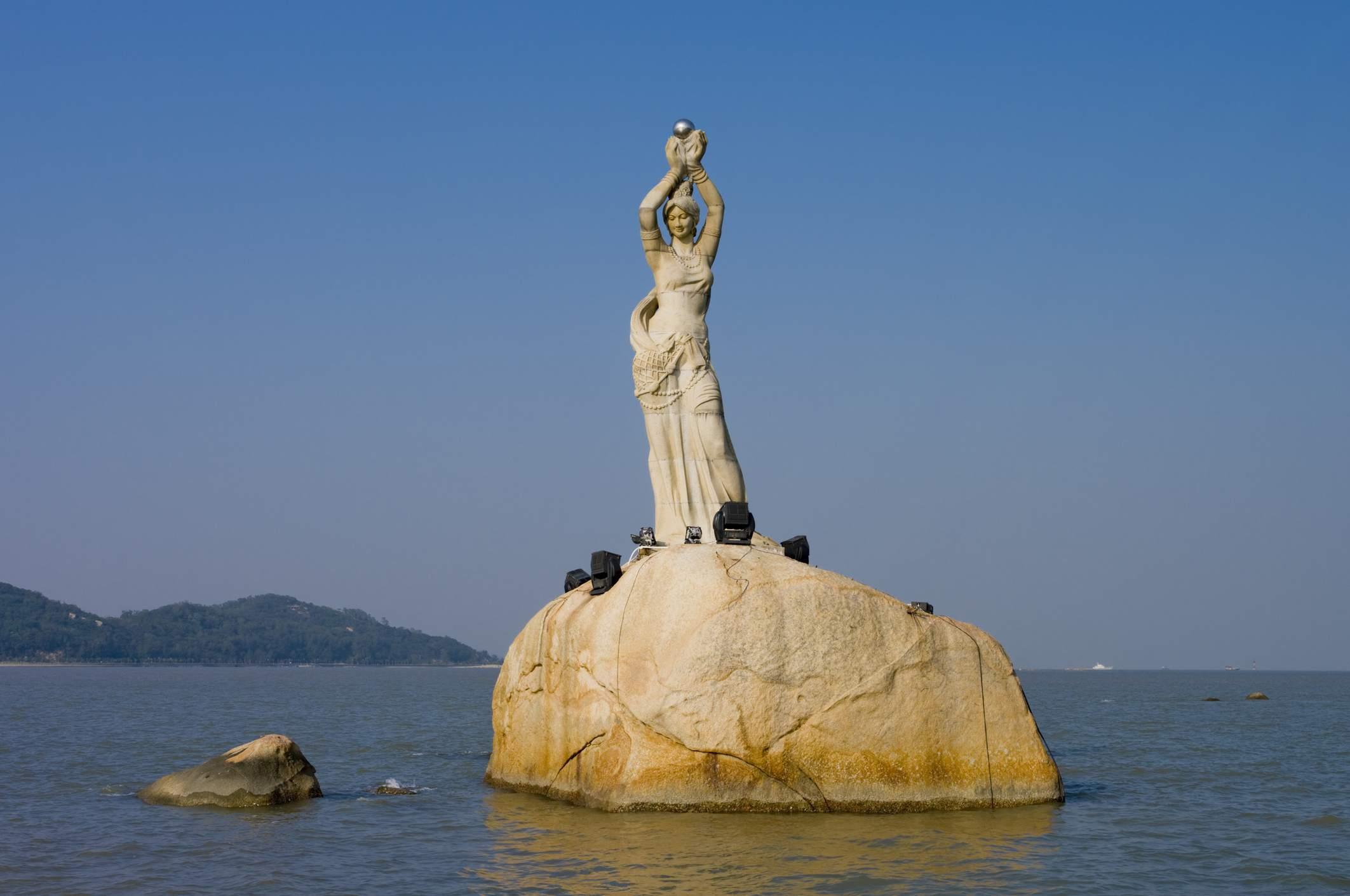 Fishergirl Statue, Zhuhai, Guangdong, China, 2008