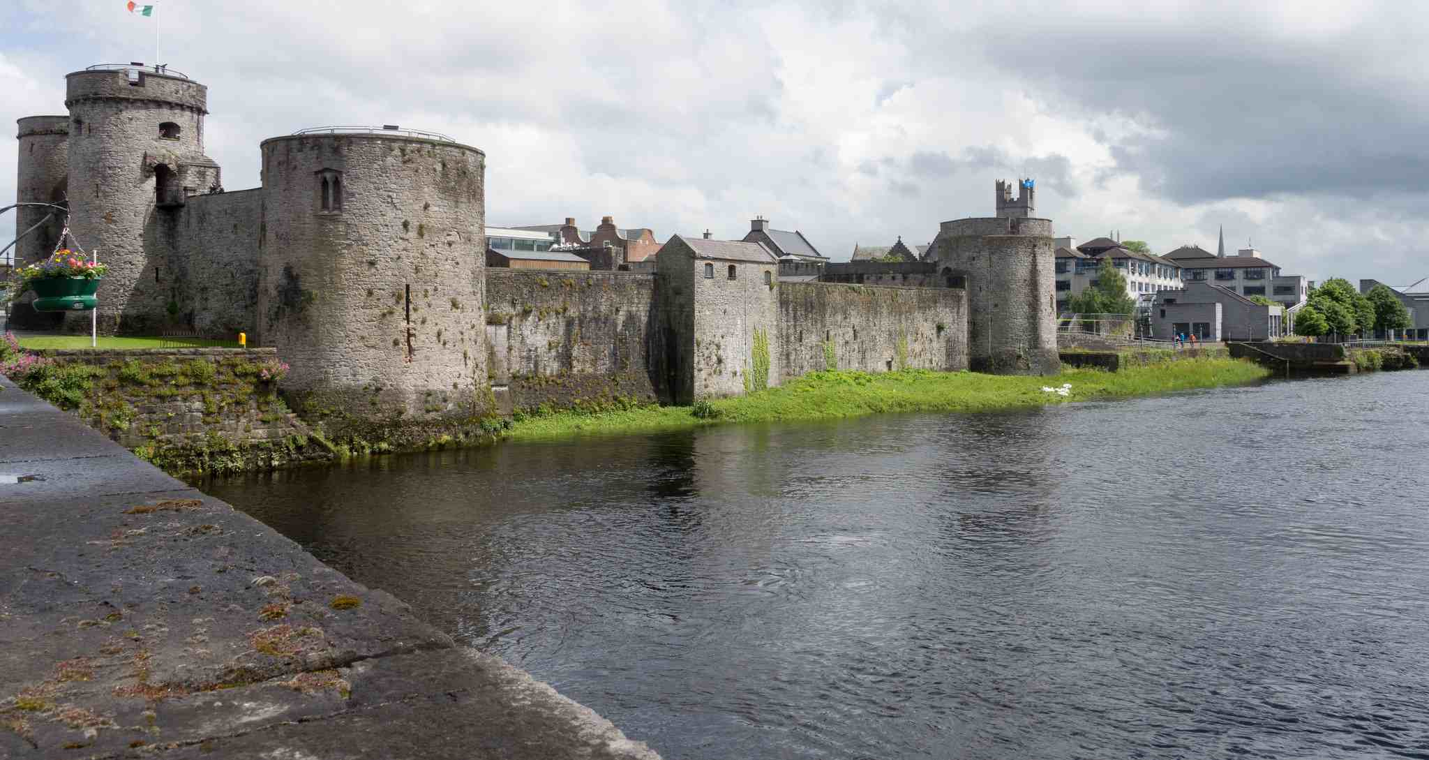 King John's Castle on the banks of the Shannon in Limerick Ireland