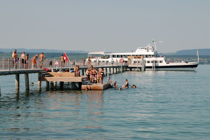 Bathers on Lake Constance