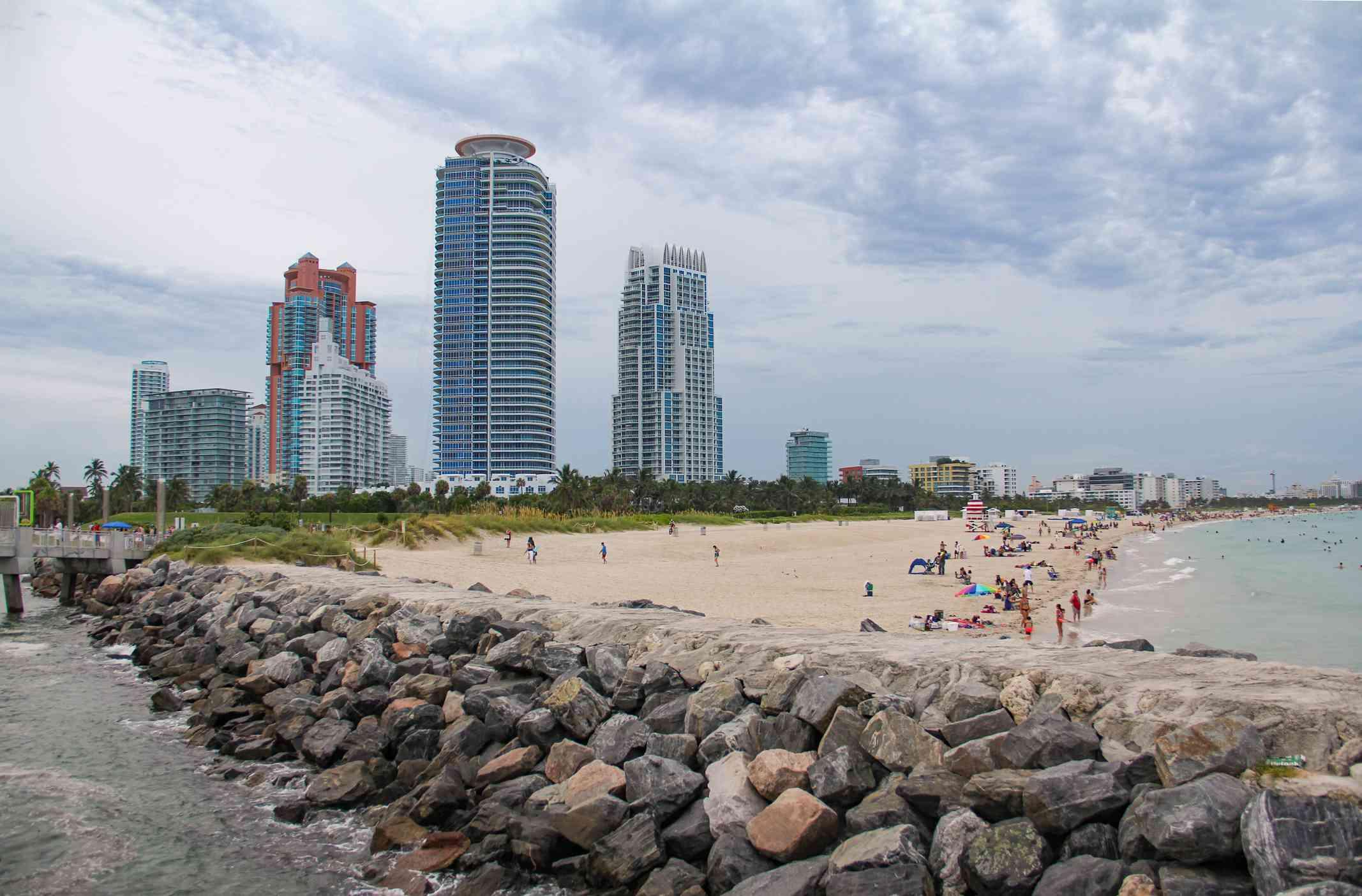 Miami Beach skyline from South Pointe Park
