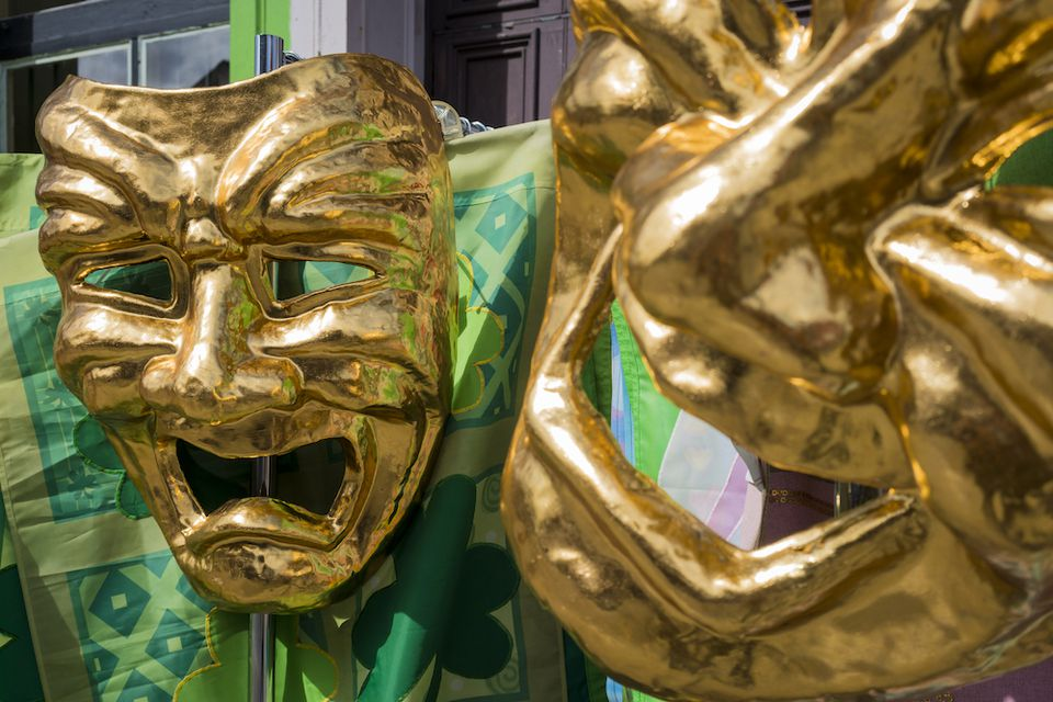 Mardi Gras gold masks in New Orleans