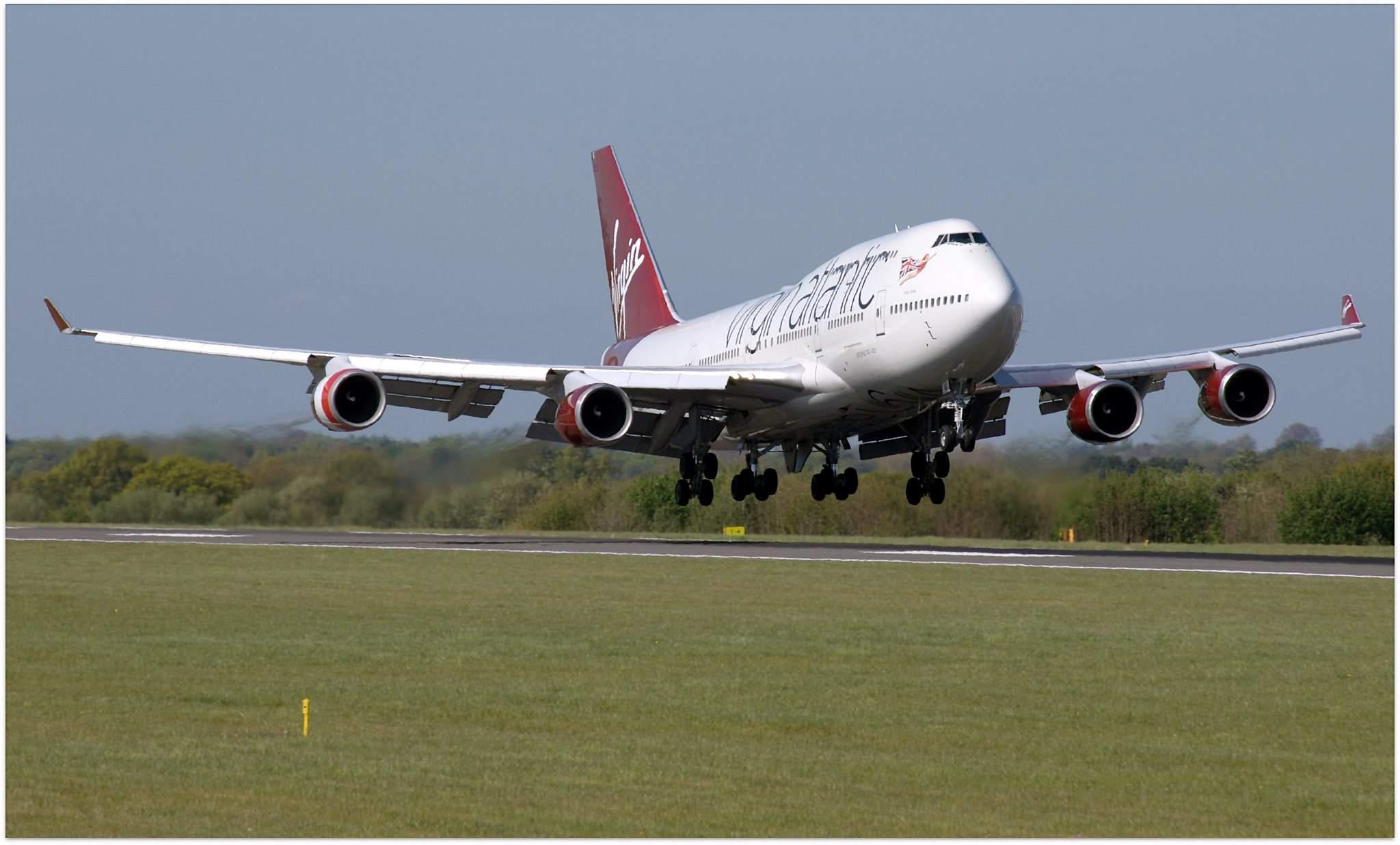 Virgin Atlantic at Manchester Airport