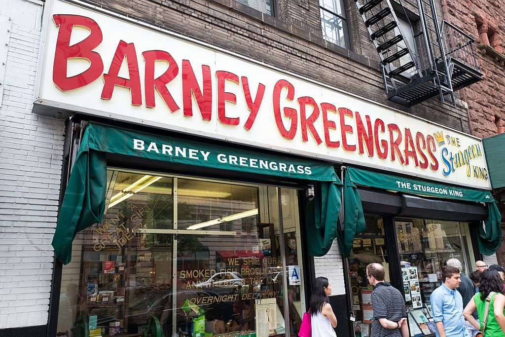 Storefront And Sign For Barney Greengrass A Traditional Jewish Style Delicatessen Originally Founded In