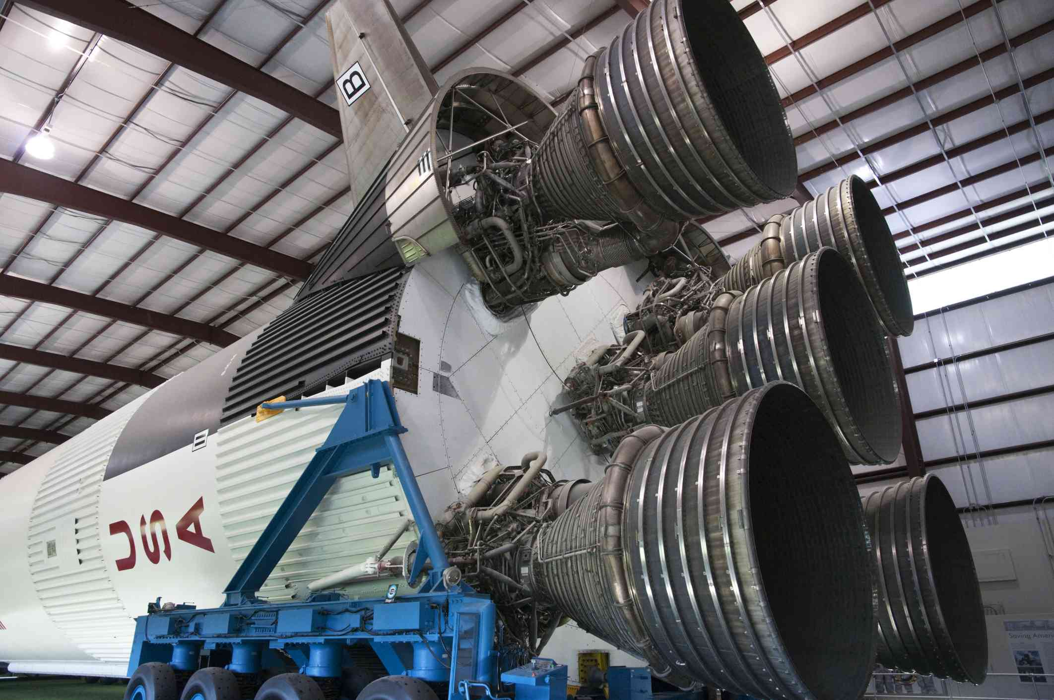 The inside of the Space Center in Houston