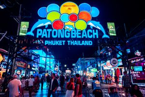 Bangla Road, Patong entrance, Phuket, Thailand