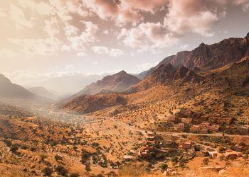 Ouarzazate town in the Atlas Mountains, Morocco