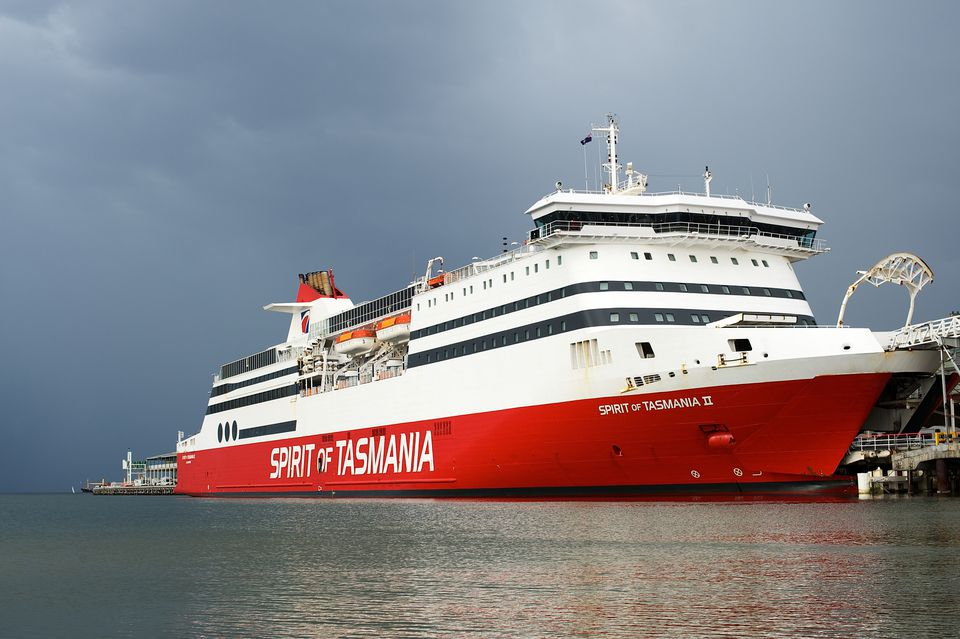 Spirit of Tasmania II docked at Station Pier in Melbourne