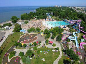 Wild Waterworks is located halfway between Niagara Falls and Toronto in Hamilton, Ontario.