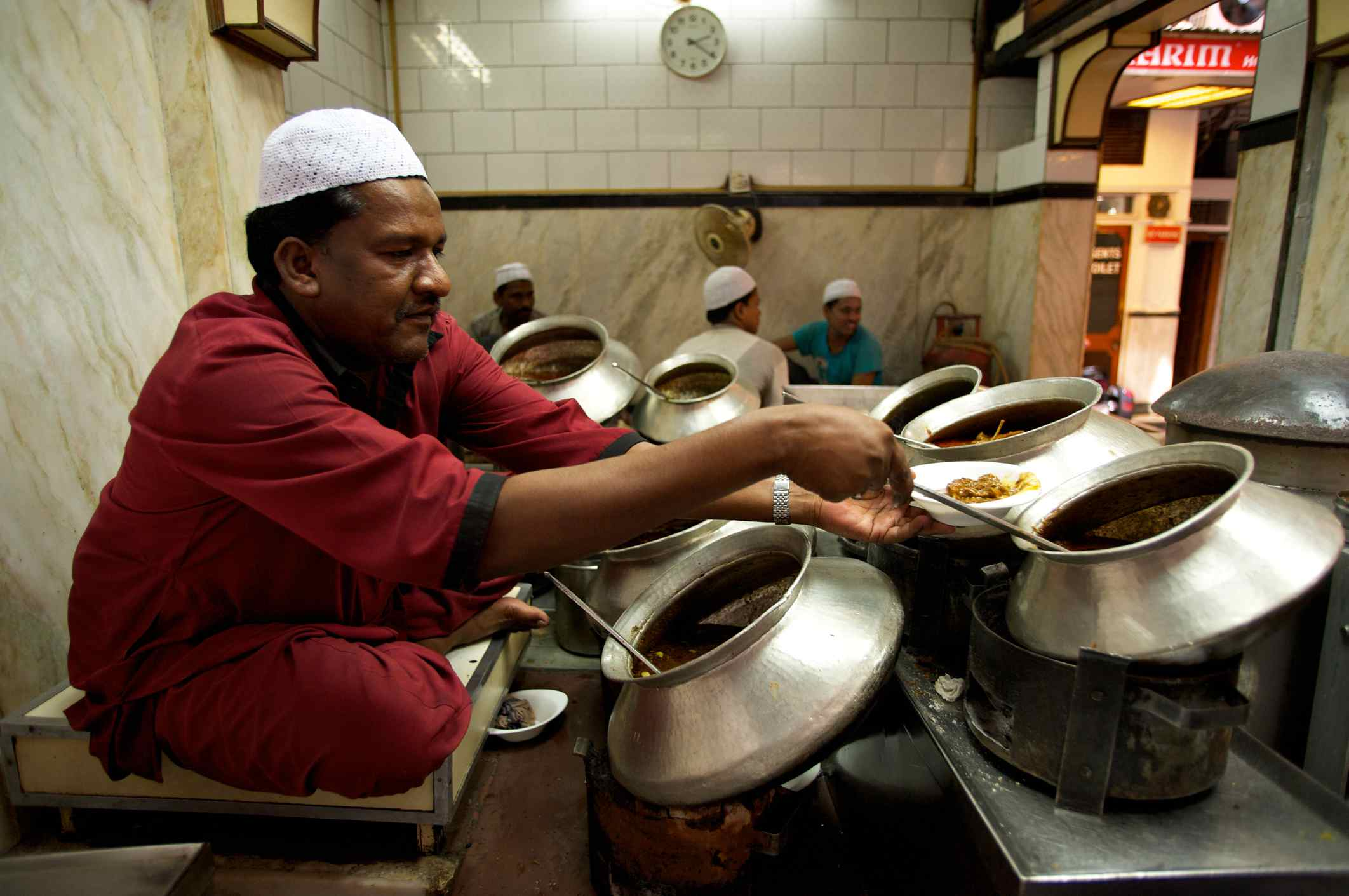 Karim restaurant, just south of Jama Masjid mosque in Old Delhi.