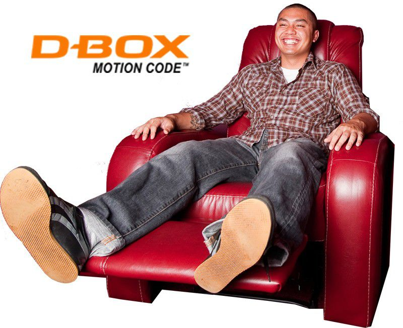 Man enjoying D-Box seat