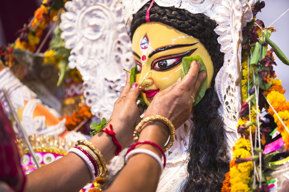Durga Puja typical face mask
