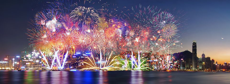 Spectacular fireworks in China
