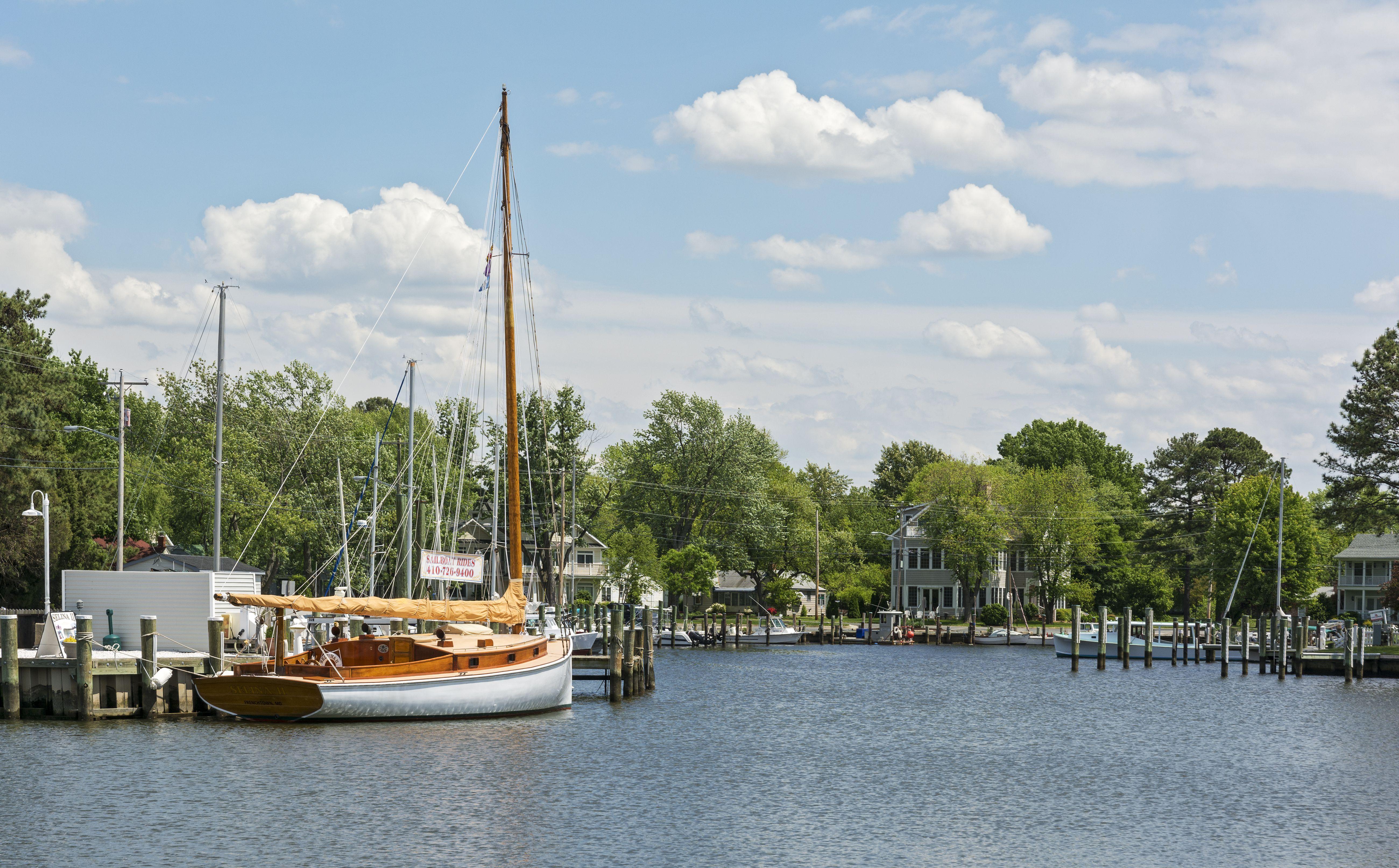 Maryland, Eastern Shore, St. Michaels, harbor