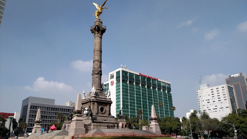 El Angel monument, on Paseo de la Reforma in Zona Rosa