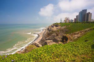 Miraflores cliffs, outside Lima, Peru