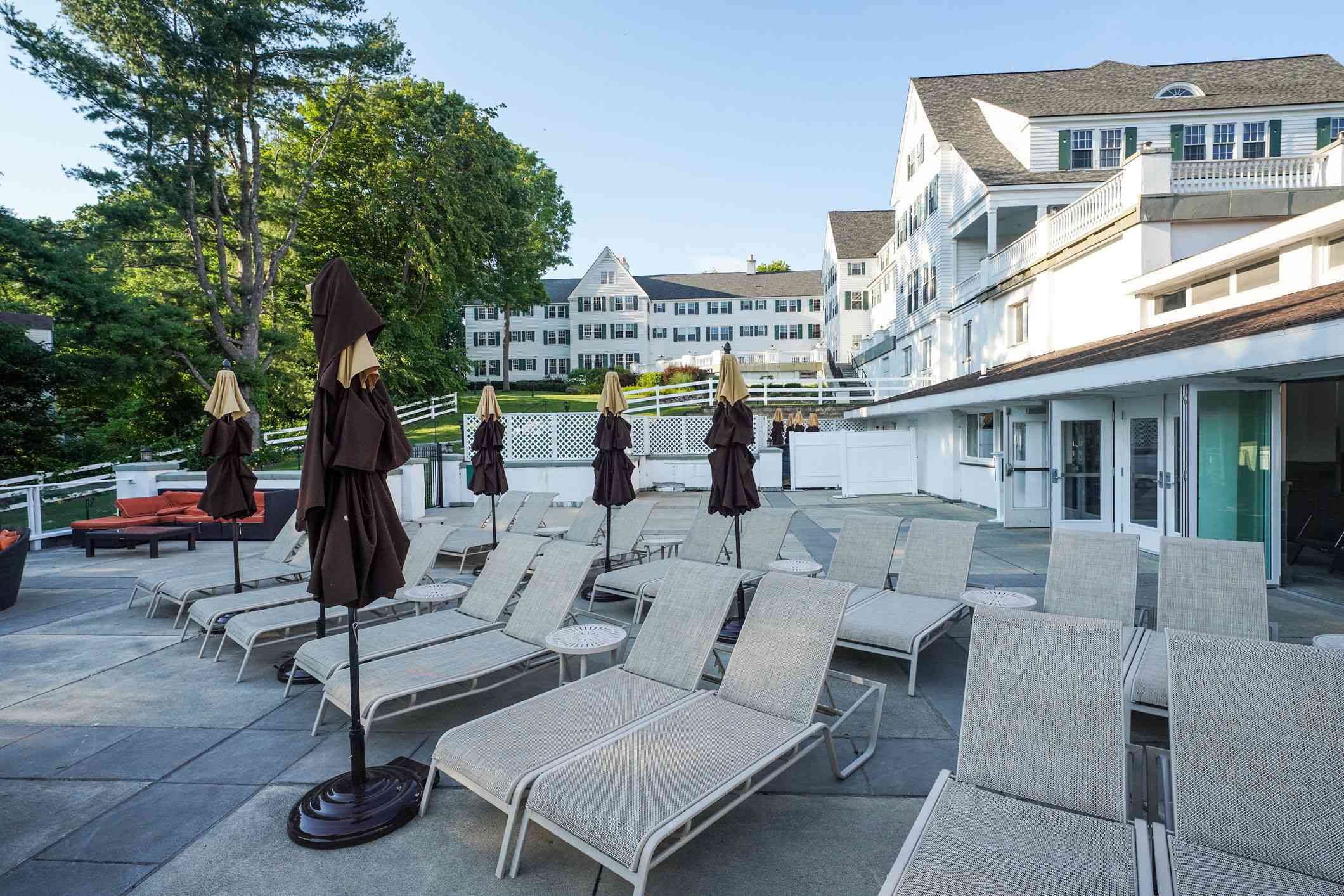 Lounge chairs outside the Sagamore