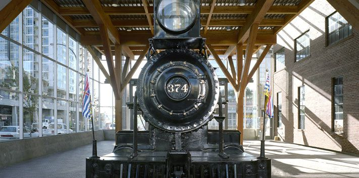 Engine 374 at the Roundhouse Community Centre, Vancouver