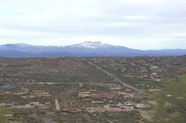 View of snow from Pinnacle Peak Park