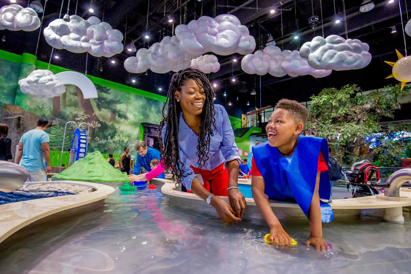 Parent and child enjoying the Please Touch Museum