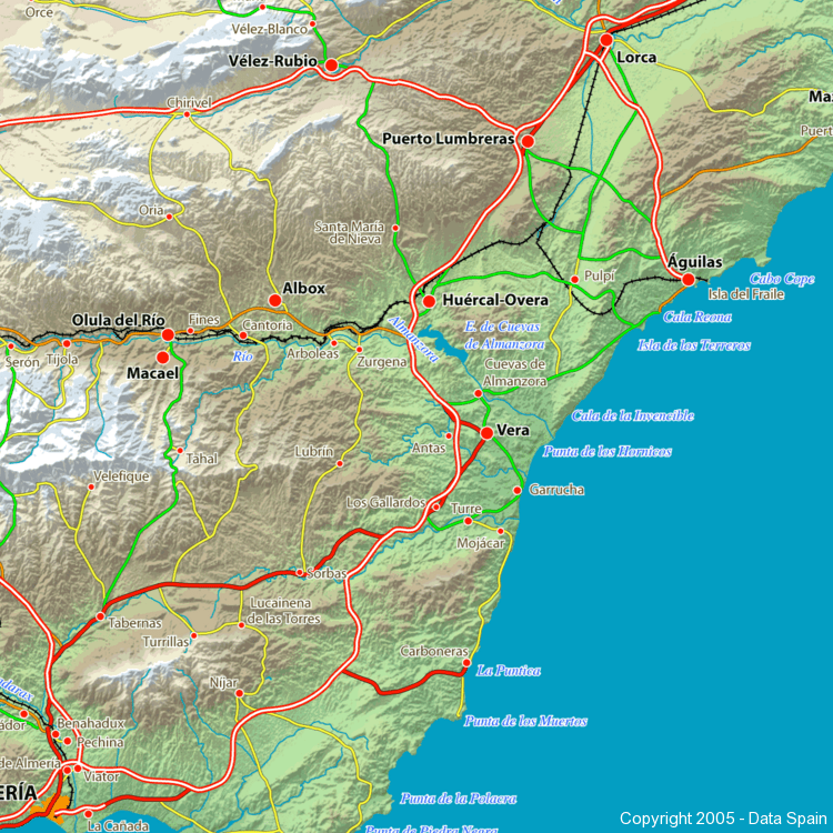 Detailed Map Of Southern Spain.Large Map Of Spain S Cities And Regions