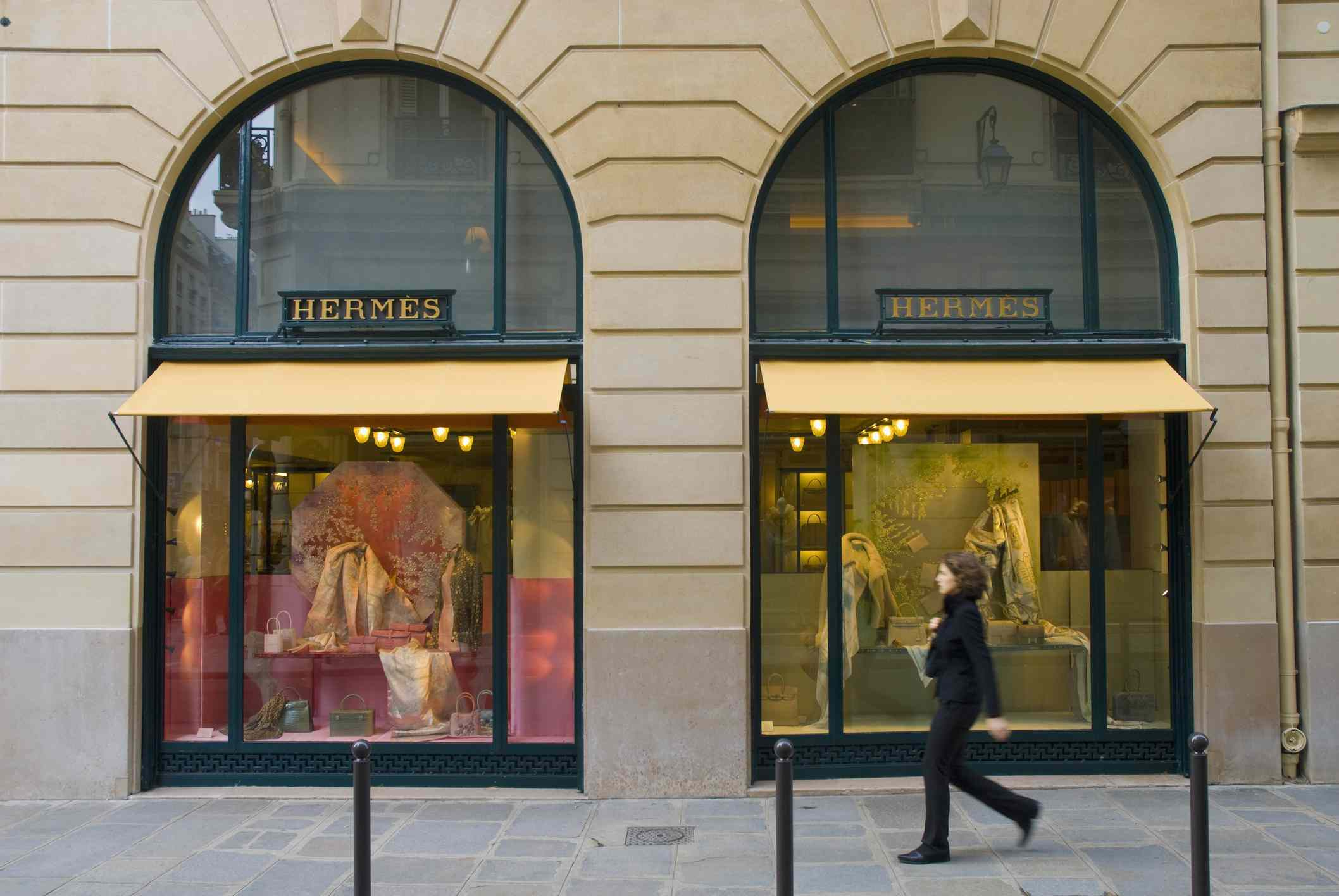 Rue St Honoré is a high-end fashion district in Paris.