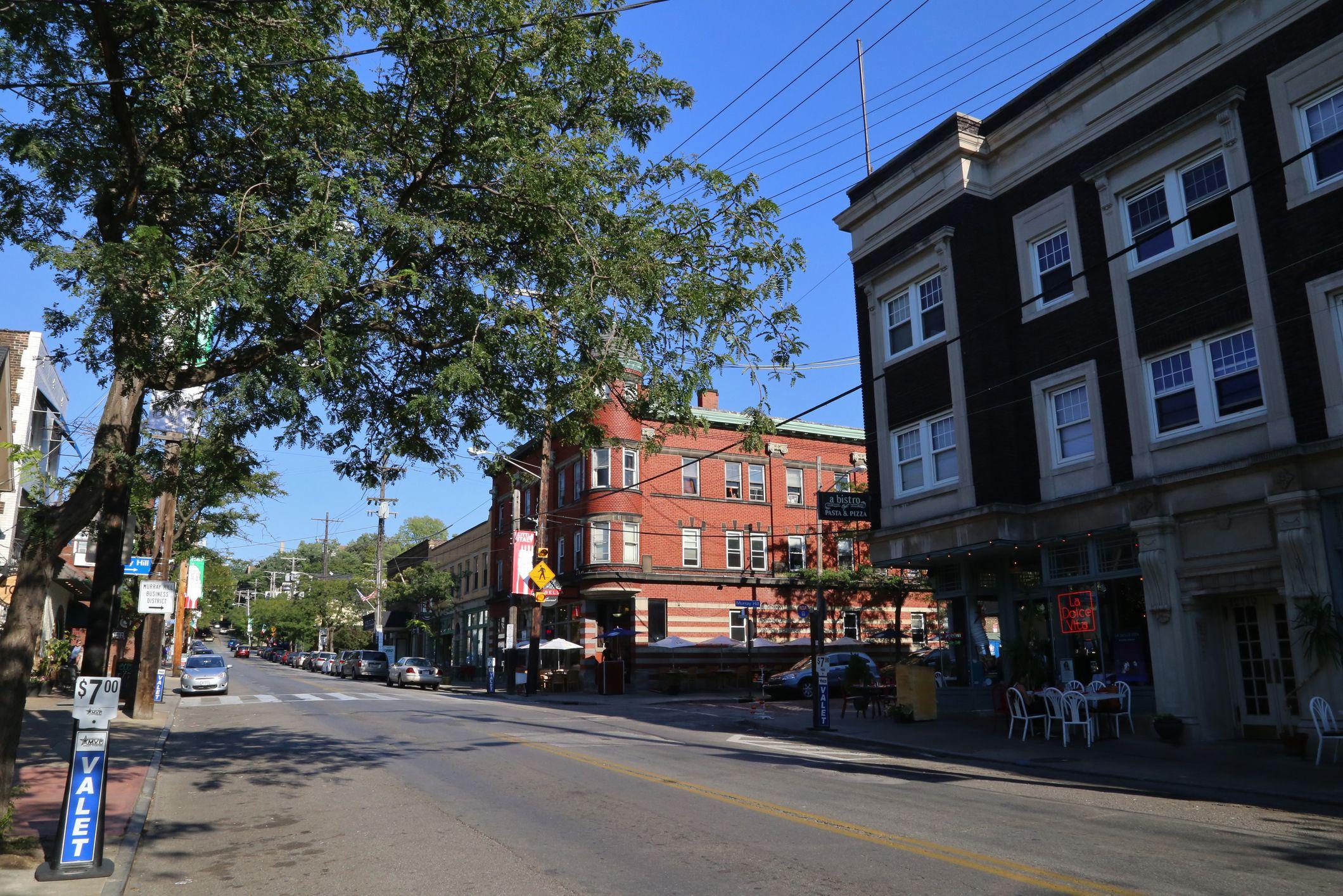 Barrio de estilo antiguo, Little Italy, Cleveland, Ohio, EE. UU.