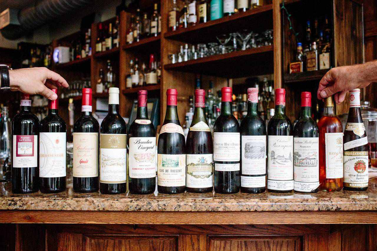bottles of wine at Brooklyn Heights Wine Bar and Kitchen
