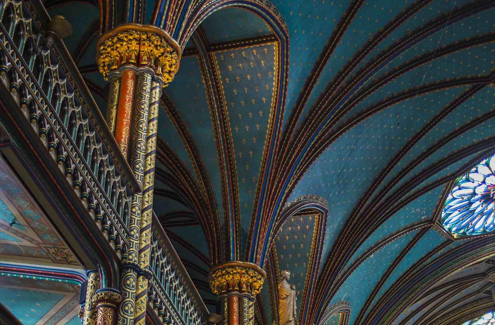 Inside Montreal's Notre-Dame Basilica.