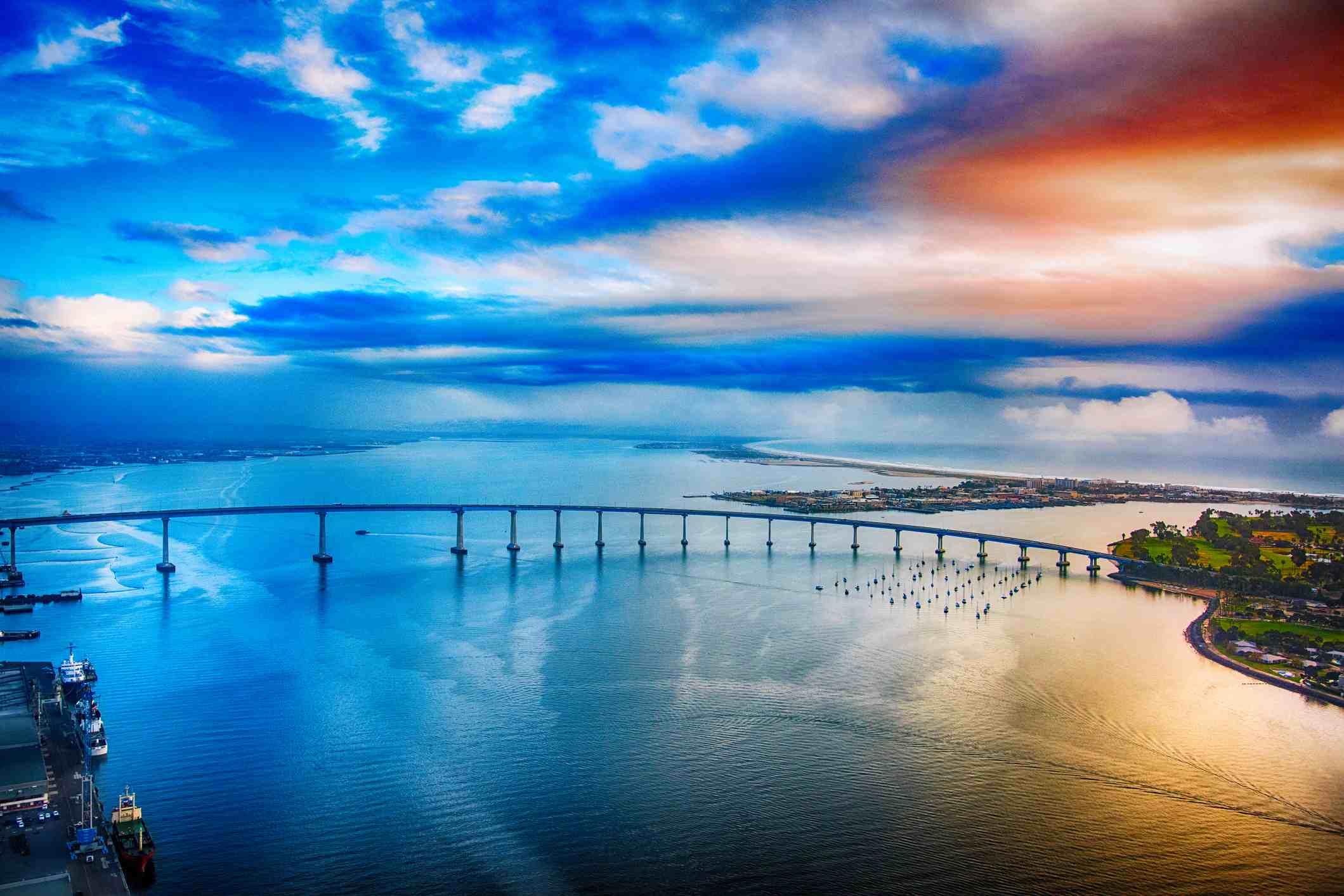San Diego Coronado Bay Bridge at Dusk
