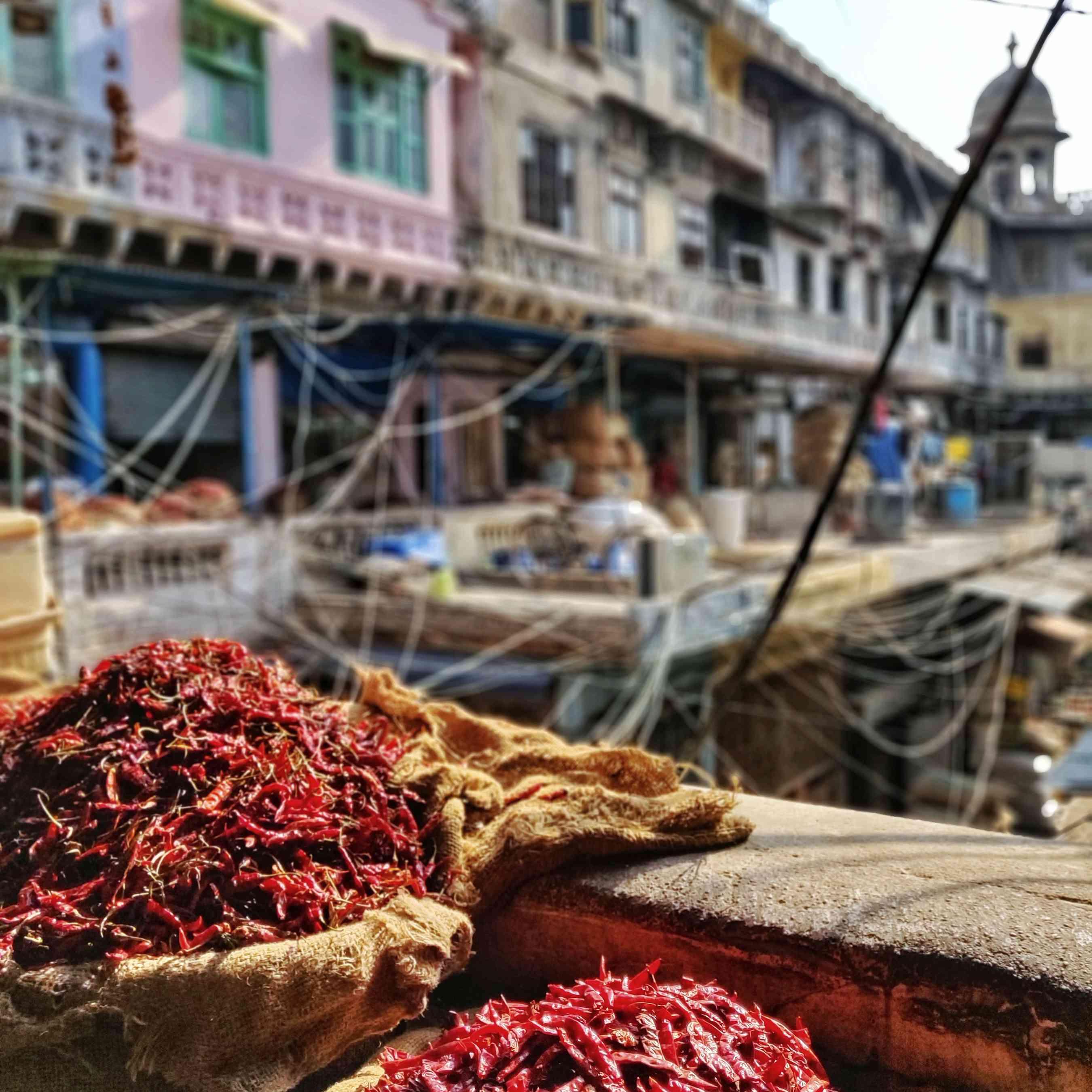 Mercado de especias Chandni Chowk