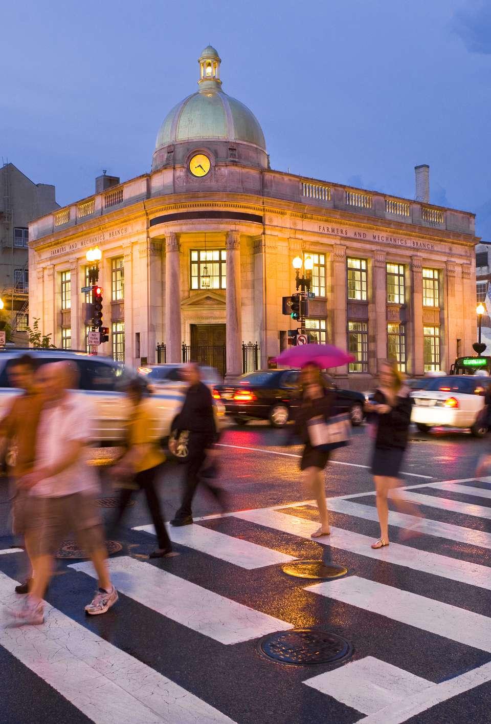 Georgetown Washington, DC in the rain.