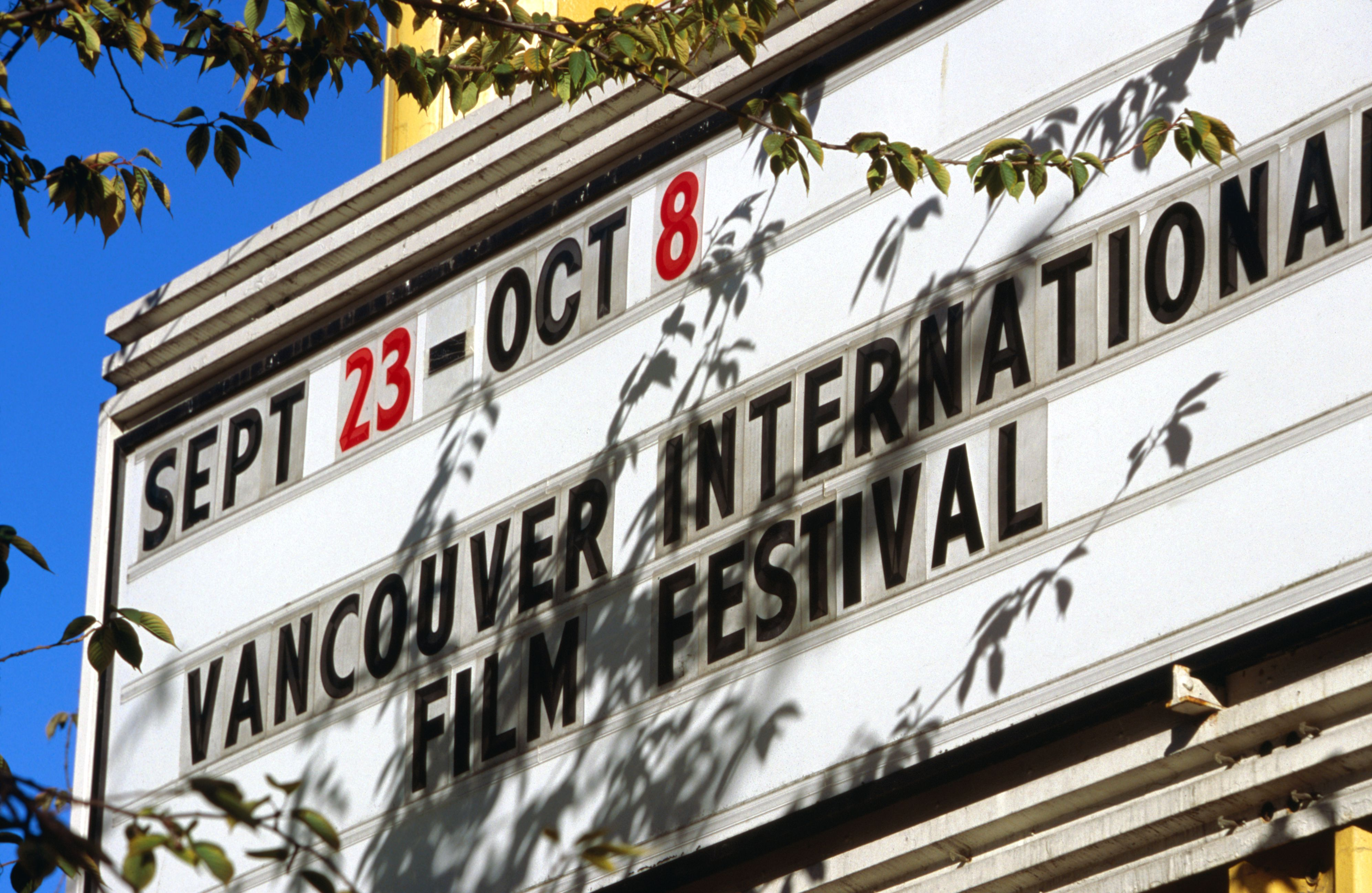 Sign for Vancouver International Film Festival.