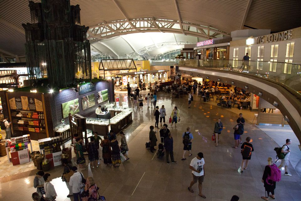 International terminal at Ngurah Rai International Airport in Bali