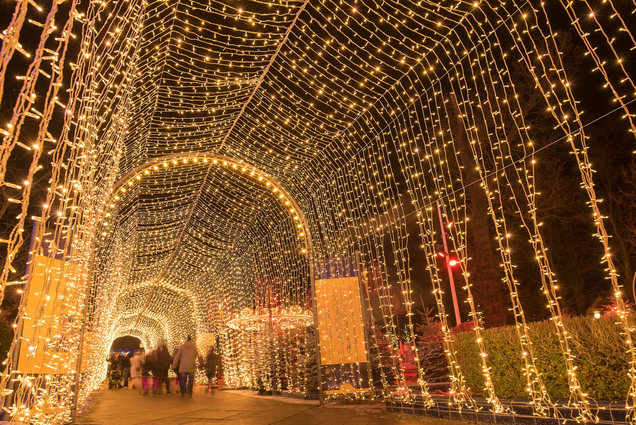 The entrance to a large Christmas market in Denmark