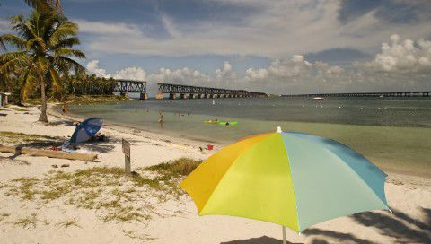 """Bahia Honda State Park offers outstanding amenities for vacationers as well as an excellent view of a historic railroad bridge. Bahia Honda has been voted the top U.S. beach by """"Dr. Beach."""""""