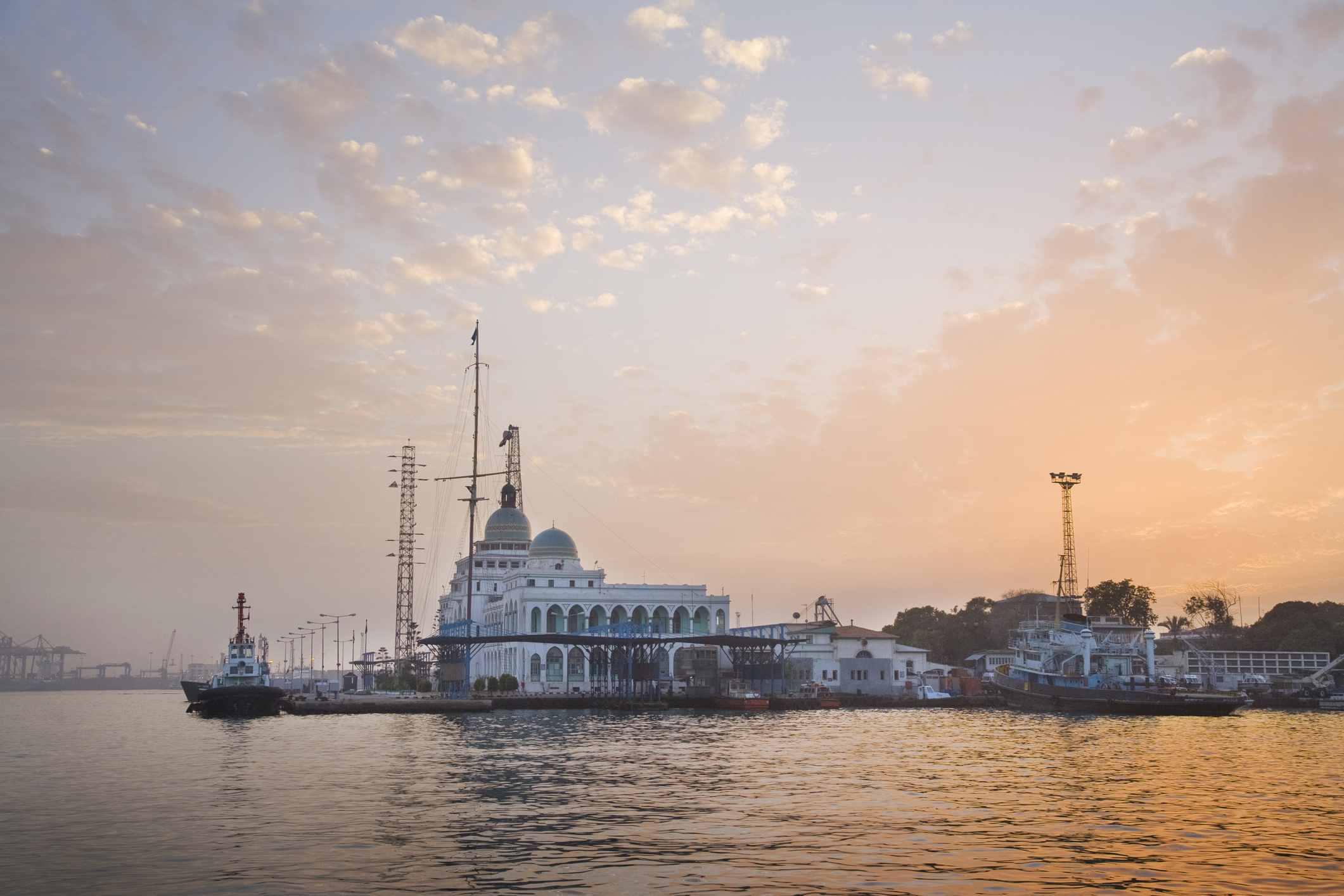 Sunset over Suez Canal House, Port Said