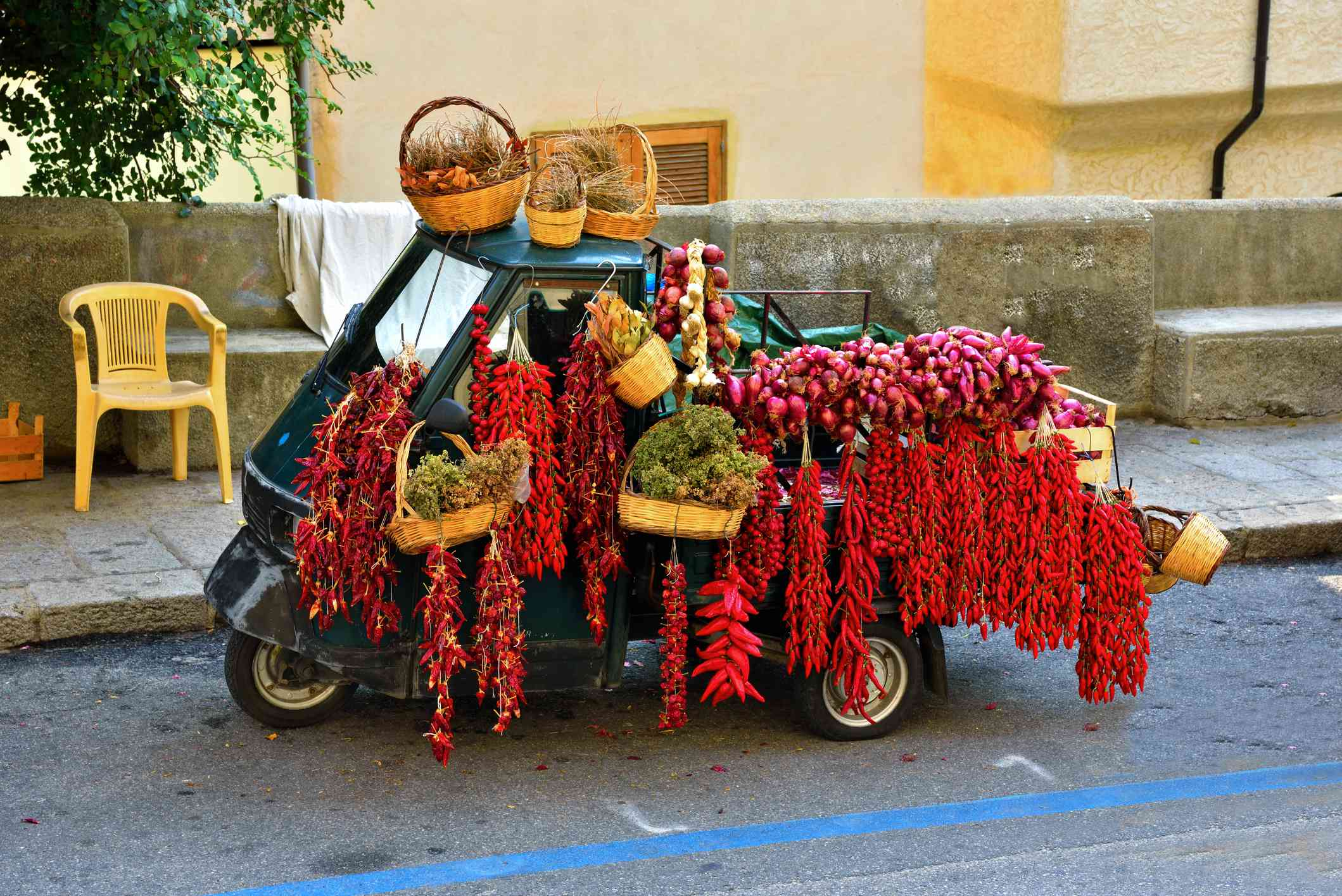 Peppers and Tropea onions, Calabria