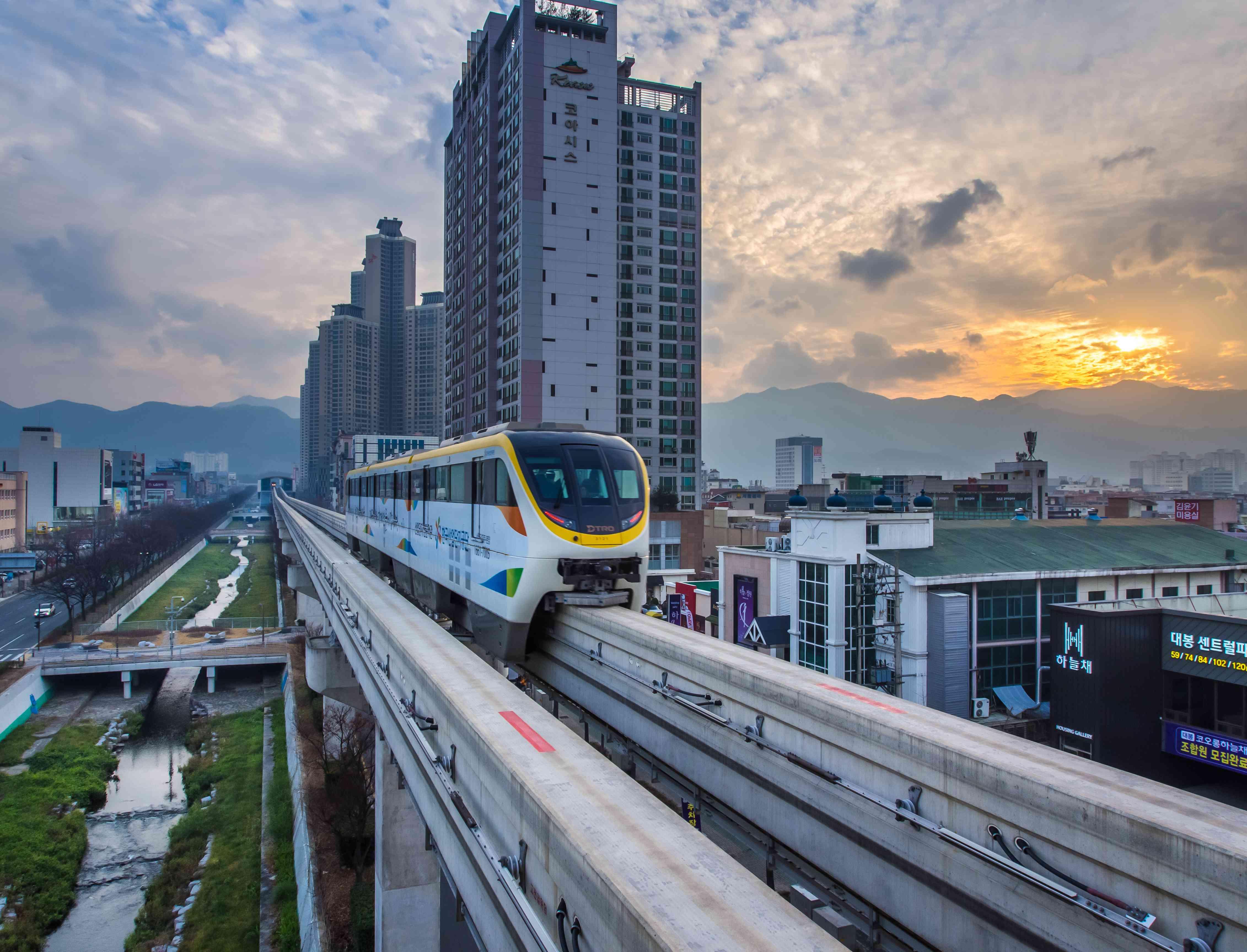 Monorail in Daegu, South Korea