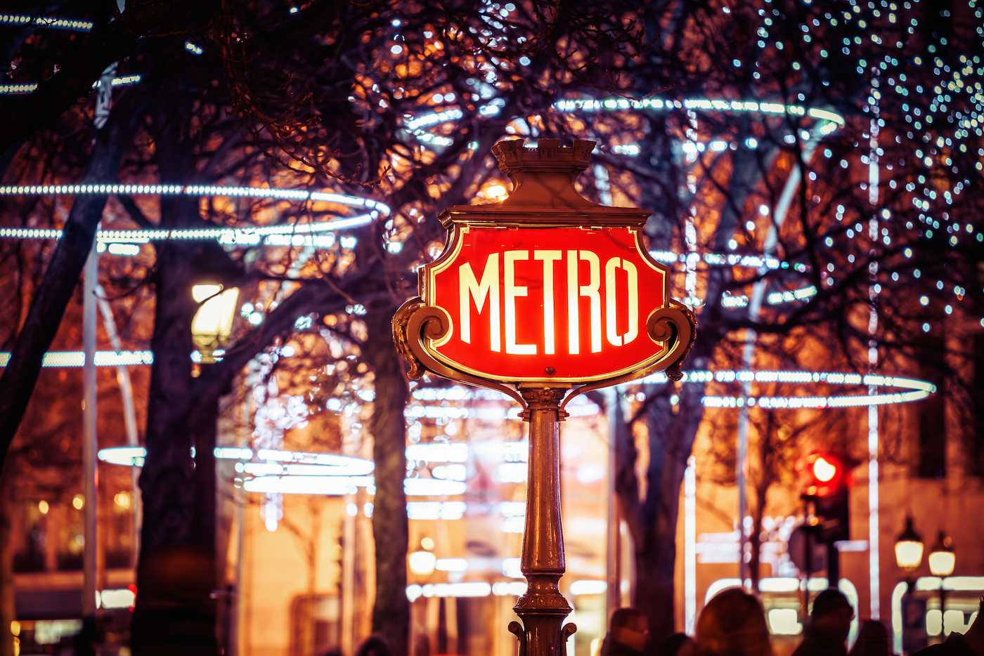 Christmas decorations in Paris are always festive.