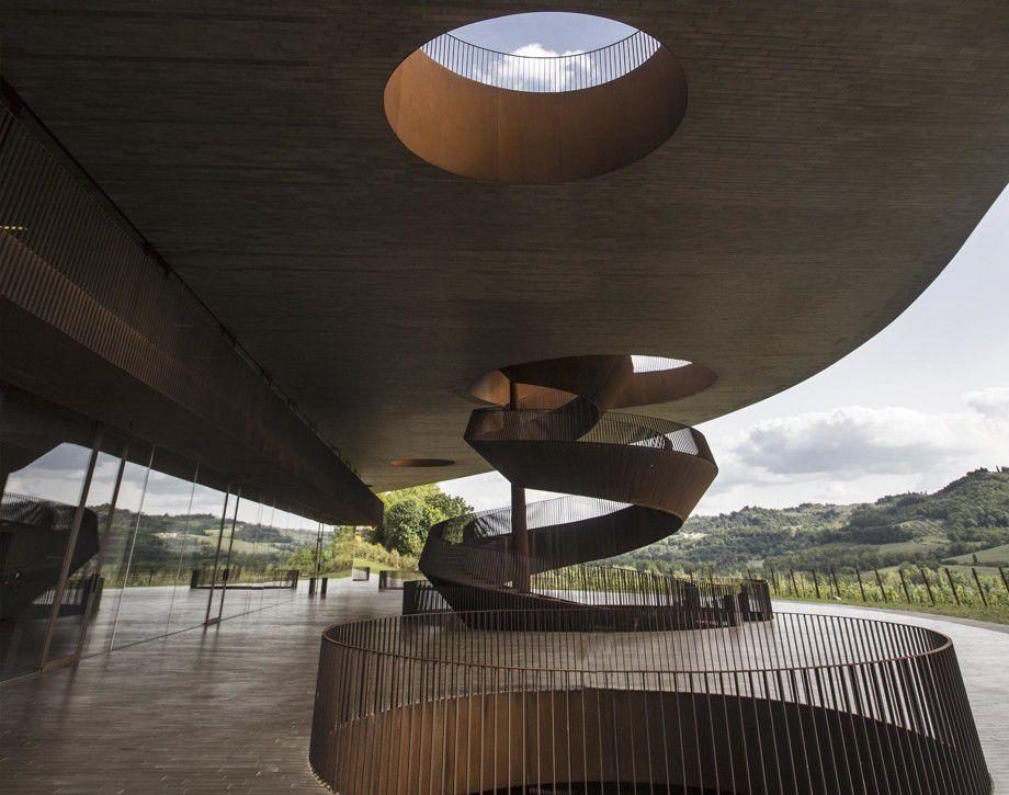 Modern architecture of the Antinori Chianti Classico winery